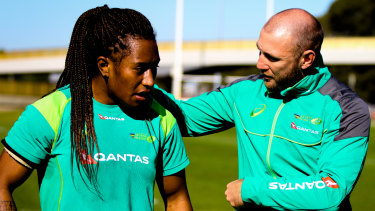 Coach Chucky: James Stannard talks to Ellia Green ahead of the Australian squads' departure for the Sevens World Cup.