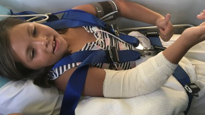 'I thought it was gonna bite her legs off': Perth girl saves baby sister from dog attack