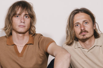 Louis (left) Leimbach and Oliver Leimbach of the Sydney indie pop  band Lime Cordiale.