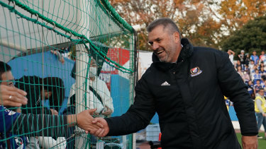 New man: Ange Postecoglou is enjoying his time as a coach in the J.League.