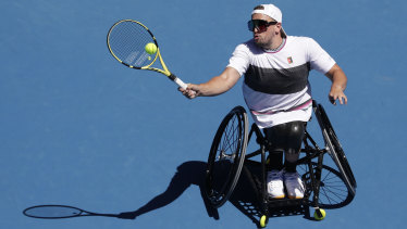 Dylan Alcott continued his dominance at Melbourne Park.