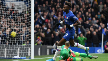 Tammy Abraham opens the scoring for the London side.