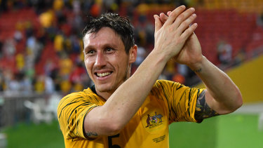 Role model: Mark Milligan hopes he has set an example with his persistence over the years.
