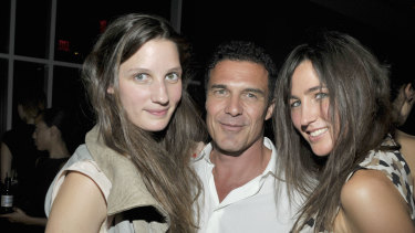 Alexandra Keating, hotel owner Andre Balazs, and his former girlfriend Katherine Keating at a fashion party in New York in 2010.