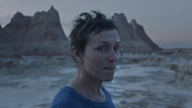 Two nominations: Frances McDormand in Nomadland.