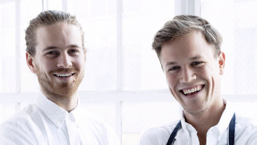 Giles Russell and Henry Roberts are the owners of Two Hands in New York.