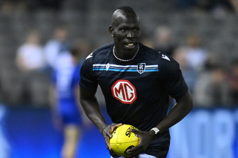 Alii Aliir was a popular figure amongst Swans fans, and unsurprisingly has endeared himself to the Port Adelaide faithful too.