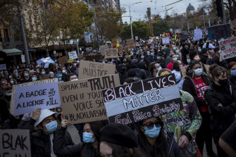 Thousands marched the streets of Melbourne last June to protest Indigenous deaths in custody and to stand in solidarity with George Floyd.
