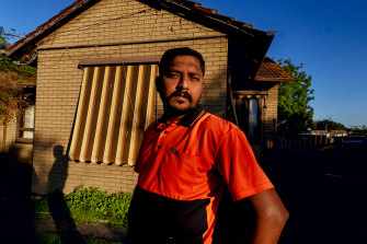 Former Polytrade worker Vimalsan Thalaisingham at his home.