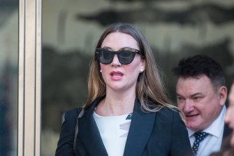 Selina Holder outside court on Monday.