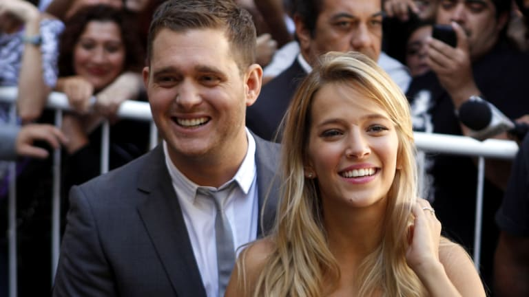 Michael Buble with his wife, Argentine actress and model Luisana Lopilato.