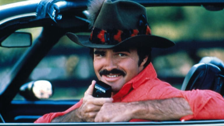 "Burt Reynolds in the 1980 film ""Smokey and the Bandit II""."