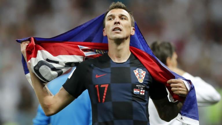 Big-game player: Mario Mandzukic grabbed the decisive goal in the semi-final.