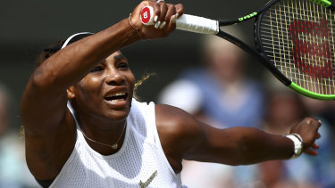 Serena Williams returns to Barbora Strycova in Wimbledon semi-final on Thursday.