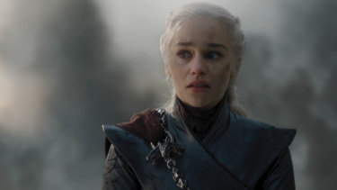 Emilia Clarke as Daenerys Targaryen in Game of Thrones' The Bells.