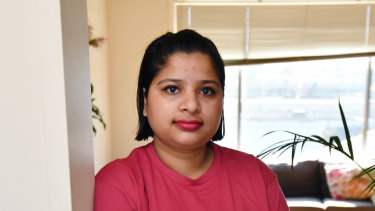 Cleaner Sajita Sitaula Aryal whose hourly pay rate has gone up by $3 in the past five years will be at the ACTU rally.