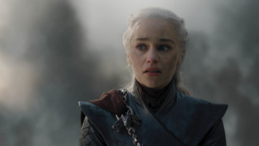 Emilia Clarke as Daenerys Targaryen in Game of Thrones.