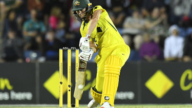 Meg Lanning bats during game two of the Women's One Day International series between Australia and India.
