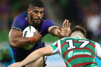 Melbourne forward Tui Kamikamica puts his team on the front foot on Thursday night.