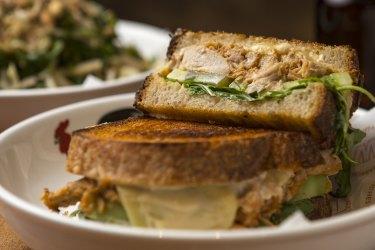 The Chicken Talimang sandwich at Warkop in Richmond.