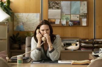 Anna Torv plays newsreader Helen Norville in The Newsreader.