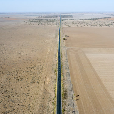 Drought-stricken country near Walgett. The drought is accelerating a process of marginalisation that was already underway in rural Australia.