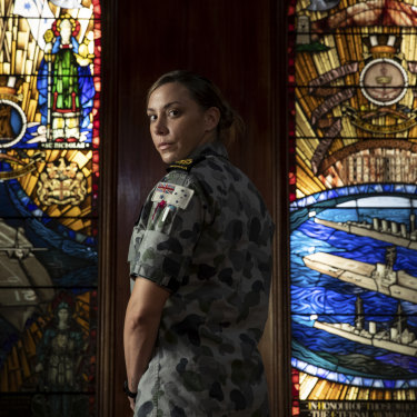 Petty Officer Jessica Buley has served in the Navy for 13 years.