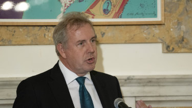 Ambassador Kim Darroch, whose leaked assessments of the Trump administration have sparked a row between the allies.