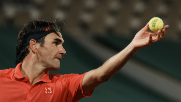 Roger Federer at the French Open.