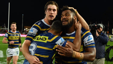 As raw as a sushi train ... Andrew Johns says Eels winger Maika Sivo is a star of the future.