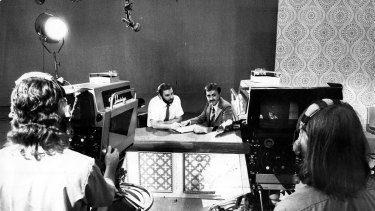 Australian TV stations gear up for the introduction of colour transmission in 1975.