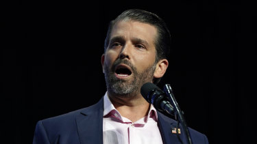 Donald Trump jnr has urged supporters to fight for his father.