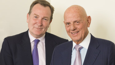 Premier Investments chairman Solomon Lew and CEO Mark McInnes.