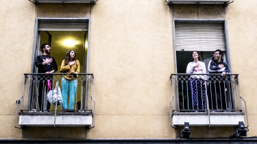Italians have been singing from their balconies during the coronavirus lockdown.