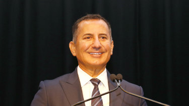 Bank of Queensland chief executive George Frazis is all smiles and why not after raising nearly $340 million from shareholders in an oversubscribed capital raising.