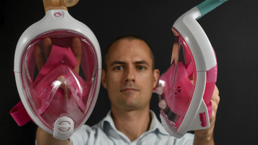 Dr Joosten thinks his masks may present a cheap and effective way of safely transferring patients in hospitals.