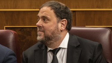 Former Catalan regional vice-president Oriol Junqueras.