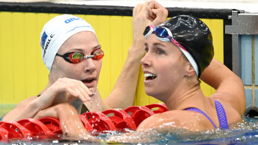Emma McKeon, right, could be a major star in Tokyo.