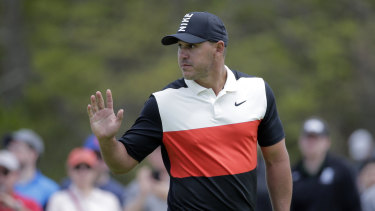 Relish: Brooks Koepka is again leading the way in a major tournament.