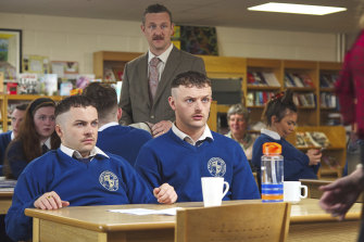 Silly and sweet: Conor (Alex Murphy) and Jock (Chris Walley) in The Young Offenders.
