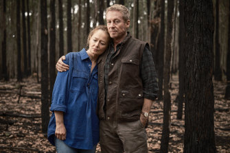 Shock and grief for Miranda Otto and Richard Roxburgh in Fires.