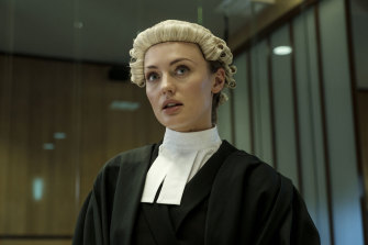 Laura Haddock as Hannah Roberts, barrister-turned victim.