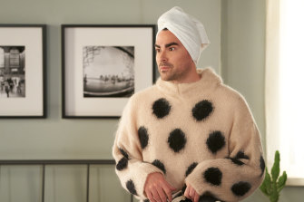 David (Daniel Levy), the man of 1000 sweaters, in Schitt's Creek.