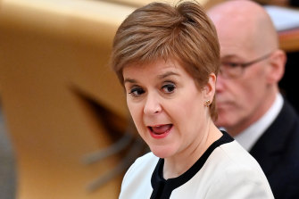 """A wee break in the clouds"": Scottish First Minister Nicola Sturgeon."