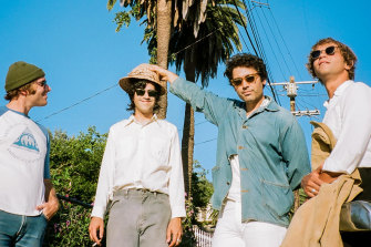 The Allah-Las are looking forward to seeing Australian crowds and surfing some waves, without the crowds.