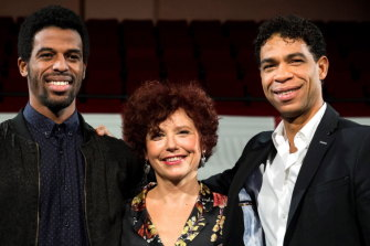 Yuli, directed by Iciar Bollain (centre), stars Keyvin Martinez (left) and Carlos Acosta (right).