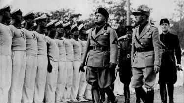 Italy's fascist leader Benito Mussolini in 1934.