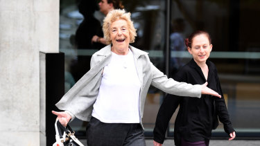 The victim's grandmother, Anthea Anthony, leaves the Brisbane Supreme Court on Friday - the day Robert John Nott was convicted.