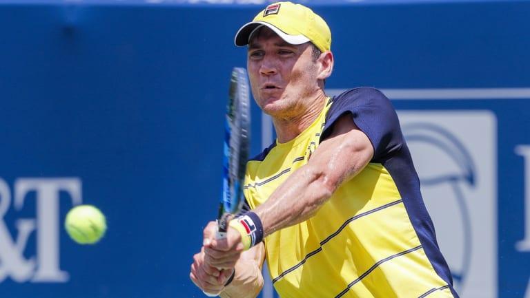Breakout season: Matthew Ebden is through to the third round of the Shanghai Masters.