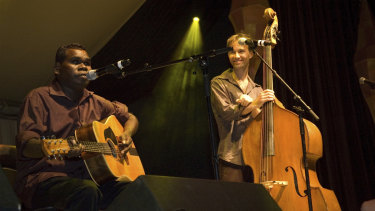 Gurrumul and Michael Hohnen were a close unit, working together beyond the stage as well as on it.